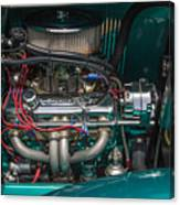 1931 Teal Chevy Hot Rod Motor Canvas Print
