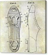 1932 Baseball Cleat Patent Canvas Print