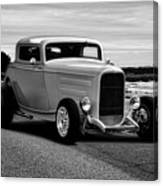 1932 Ford Coupe 'black And White' Canvas Print
