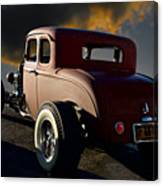 1932 Ford Five Window Coupe 'leaving Town' Canvas Print