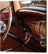 1932 Ford Hot Rod Steering Wheel 3 Canvas Print