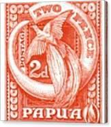 1932 Papua New Guinea Bird Of Paradise Postage Stamp Canvas Print