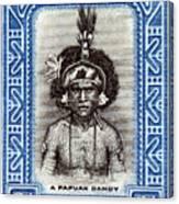 1932 Papuan Dandy Stamp Canvas Print