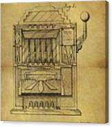 1932 Slot Machine Patent Canvas Print