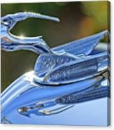 1933 Chrysler Imperial Hood Ornament 2 Canvas Print