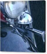 1933 Dodge Headlights And Horn Canvas Print