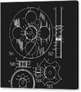 1933 Film Reel Patent Canvas Print