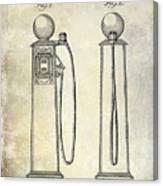 1933 Gas Pump Patent Canvas Print
