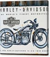 1933 Hd 74 Big Twin Canvas Print