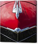1933 Oldsmobile Hood Ornament Canvas Print