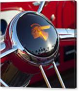 1933 Pontiac Steering Wheel Canvas Print