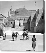 1934 And 1939 Bethlehem Nativity Church  Canvas Print