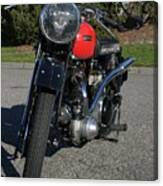 1934 Ariel Motorcycle Front View Canvas Print