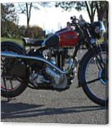 1934 Ariel Motorcycle Side View Canvas Print