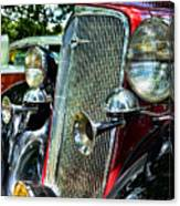 1934 Chevrolet Head Lights Canvas Print