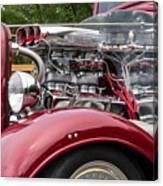 1934 Chevy Truck Motor Canvas Print