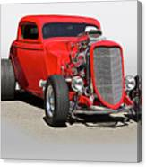 1934 Ford 'mean And Nasty' Coupe Canvas Print