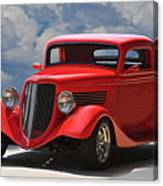 1934 Ford 'sherrys Cherry' Coupe Canvas Print