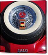 1934 Mercedes Benz 500k Roadster 8 Spare Tire Canvas Print