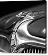 1934 Nash Ambassador 8 Hood Ornament 2 Canvas Print