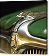 1934 Nash Ambassador 8 Hood Ornament Canvas Print