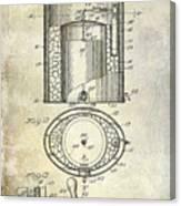 1935 Beer Equipment Patent  Canvas Print
