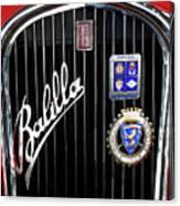 1935 Fiat Balilla Sport Spider Grille Canvas Print