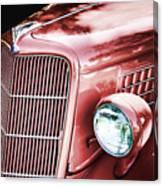 1935 Ford Sedan Hood Canvas Print