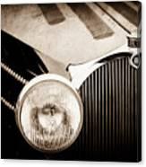 1936 Bugatti Type 57s Corsica Tourer Grille Emblem -1673s Canvas Print