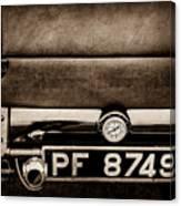 1936 Bugatti Type 57s Corsica Tourer License Plate -0067s Canvas Print