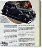 1936 Buick Century Classic Ad Canvas Print