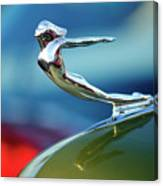 1936 Cadillac Hood Ornament 2 Canvas Print