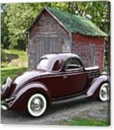 1936 Ford 3-window Canvas Print