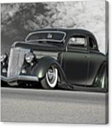 1936 Ford 'bug Crusher' Coupe Canvas Print