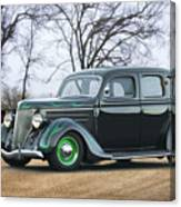1936 Ford Deluxe Sedan I Canvas Print