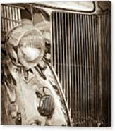 1936 Ford Stainless Steel Grille -0376s Canvas Print