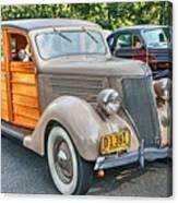 1936 Ford V8 Woody Station Wagon Canvas Print