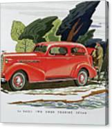 1936 La Salle Two Door Touring Sedan Canvas Print