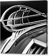 1936 Plymouth Sedan Hood Ornament 2 Canvas Print