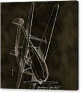 1936 Tandem Motored Biplane Canvas Print
