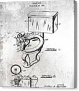 1936 Toilet Bowl Patent Antique Canvas Print