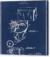 1936 Toilet Bowl Patent Blue Canvas Print