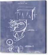 1936 Toilet Bowl Patent Blue Grunge Canvas Print