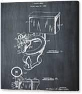 1936 Toilet Bowl Patent Chalk Canvas Print