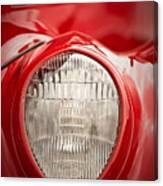 1937 Ford Headlight Detail Canvas Print