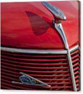 1937 Ford Hood Ornament Canvas Print