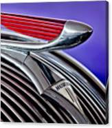 1937 Hudson Terraplane Sedan Hood Ornament 2 Canvas Print