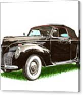 1937 Lincoln Zephyer Canvas Print