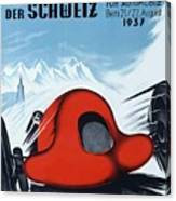1937 Switzerland Grand Prix Racing Poster Canvas Print