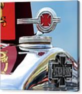 1938 American Lafrance Fire Truck Hood Ornament Canvas Print